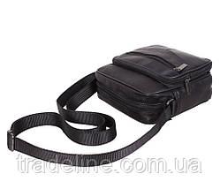 Мужская кожаная сумка Dovhani ASW1101866 Черная, фото 3