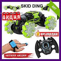 Машинка перевертыш на радиоуправлении SKID DING Управление с руки!