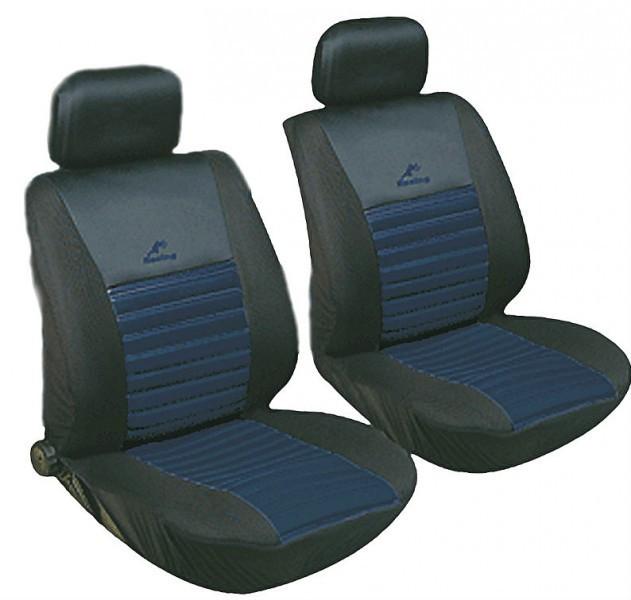 Авточохли з підігрівом Milex Arctic на передні сидіння чорно-сині