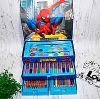 Набір художника (для малювання) 54 предмета. Набір для малювання творчості в подарунковій упаковці 3 яруси