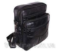 Мужская кожаная сумка Dovhani ASW2014-174 Черная 24 x 20 x 10 см, фото 3