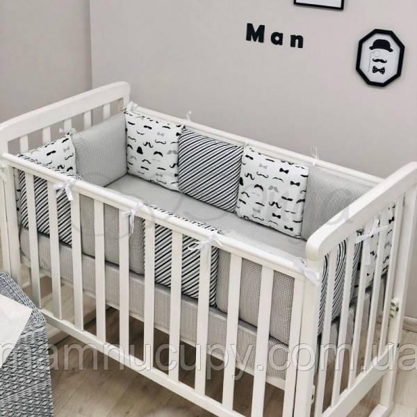 Бортики в дитячу ліжечко Baby Design Вуса ТМ «Маленька Соня»