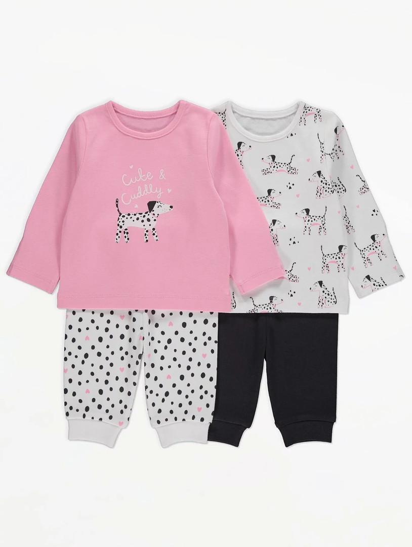 Симпатичные детские пижамки с далматинцами для девочки Джордж (поштучно)