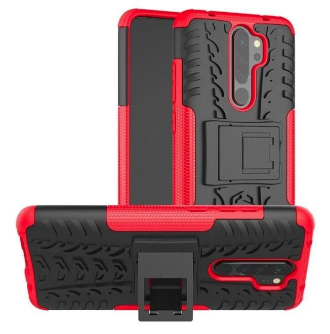 Противоударный чехол Протектор Armored для Xiaomi Redmi 9 с подставкой Цвет Красный