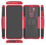 Противоударный чехол Протектор Armored для Xiaomi Redmi 9 с подставкой Цвет Красный, фото 2