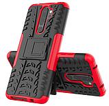 Противоударный чехол Протектор Armored для Xiaomi Redmi 9 с подставкой Цвет Красный, фото 3