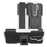 Противоударный чехол Протектор Armored для Xiaomi Redmi 9 с подставкой Цвет Белый, фото 3