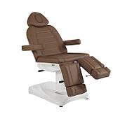 Педикюрная кушетка кресло для педикюра электро с раздельными ногами модель 3803 АS (2 мотора) Белый/Бежевый