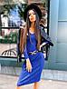 Женское платье-лапша длины миди из ткани рибана (р 42-46) к5mpl1583