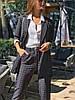 Женский брючный костюм двойка в клетку (пиджак и брюки) р. 42, 44 83mko1120