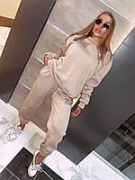 Женский спортивный костюм кофта и штаны из трехнитки на флисе (р. 42-54) 18msp1062, фото 1