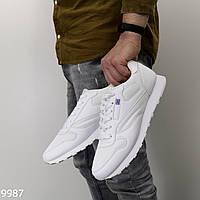 Мужские качественные кроссовки белые, фото 1
