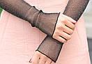 Рукава съемные женские митенки нарукавники мітенки, фото 2