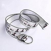Универсальный ремень Off-white серебряный цвет