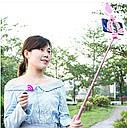 Штатив для телефона для съемки с кольцевой лампой и bluetooth выдвижной, розовый 1.7м, фото 5