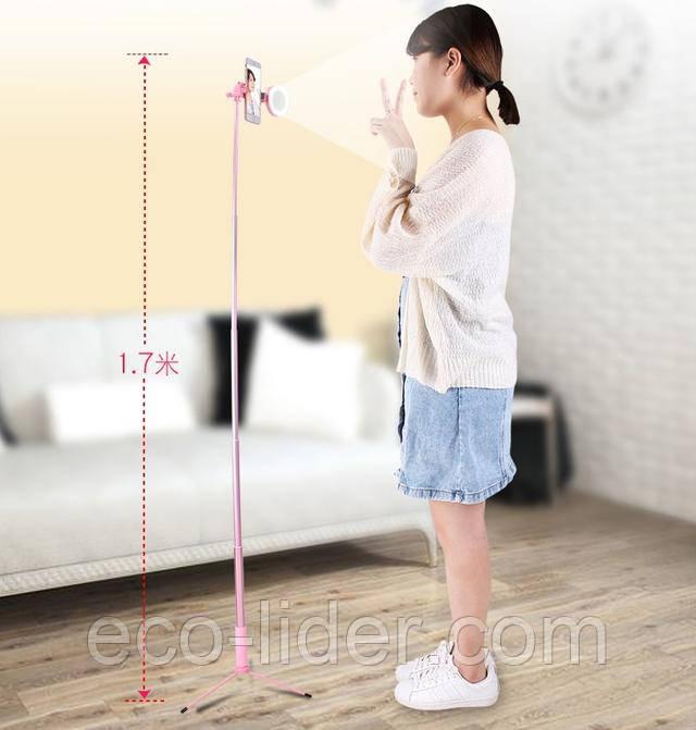 Изображение Штатив для телефона розовый 170 см