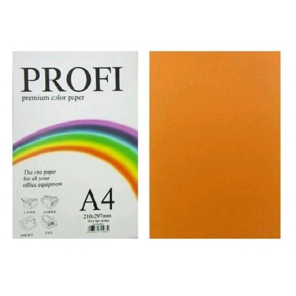 Бумага для печати цветной 80г / м2, PROFI, неон оранжевый