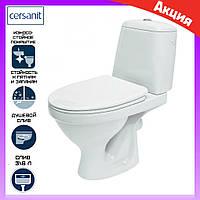 Унітаз підлоговий компакт з бачком Cersanit Eco 2000 010 з сидінням дюропластів, фото 1