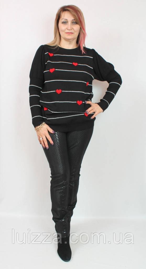 Туника с вышивкой, Турция ( Darkwin) 52-62р, черного цвета