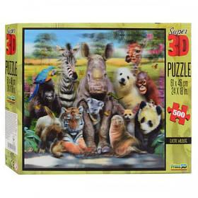 Пазлы 3D 10009 экзотические животные, 61-46 см, 500 деталей