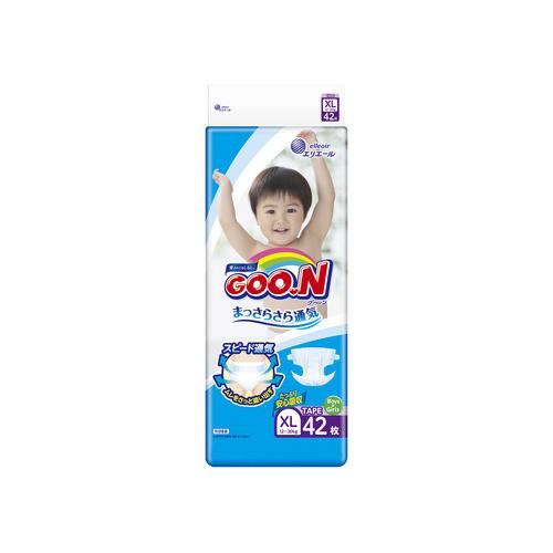 Японские подгузники GOO.N для детей 12-20 кг Big (XL) на липучках унисекс 42шт (843132)