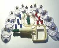 Вакуумно магнитные массажные банки для профессионального  массажа --12 шт