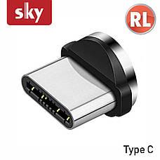 Магнитный кабель SKY 3в1 (L) для зарядки (100 см) Blue, фото 3