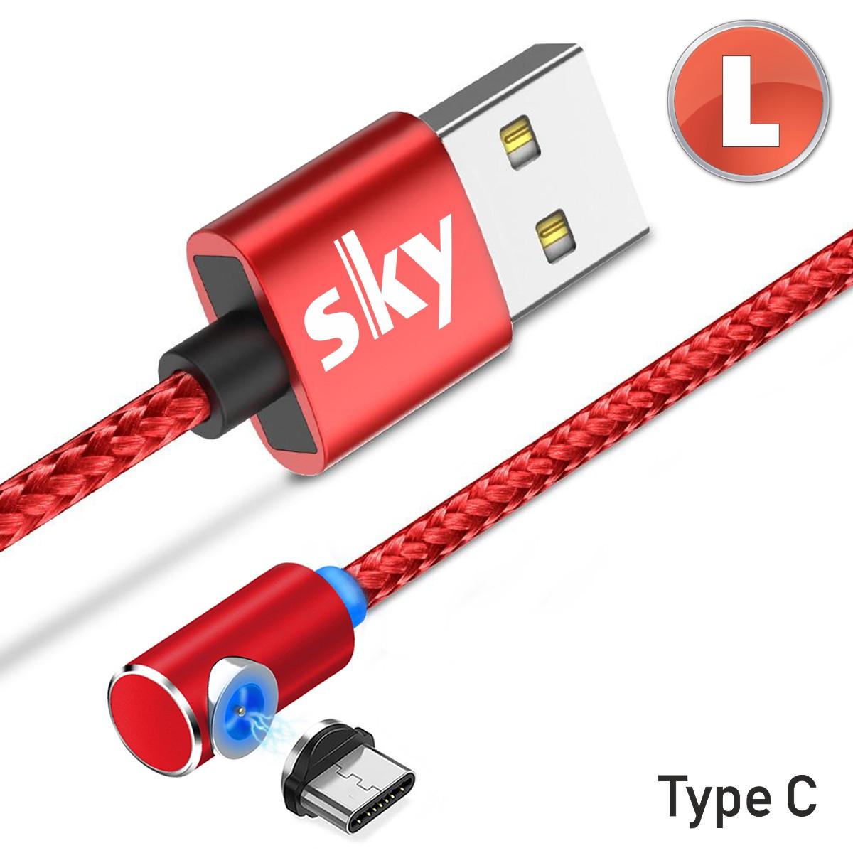 Магнитный кабель SKY type C (L) для зарядки (100 см) Red