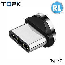 Магнитный кабель TOPK 3в1 (LZ) для зарядки (100 см) RGB, фото 3