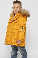 Детская зимняя куртка для мальчиков ТМ X-Woyz 8316 размеры 32 36 42