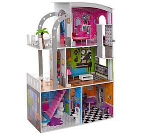 Домик для кукол 30 см. деревянный с мебелью 3 этажа MD 2012, фото 2