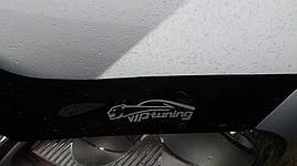 Дефлектор капоту, мухобойка Hyundai SANTA FE 2018-2020 (S-крепл)
