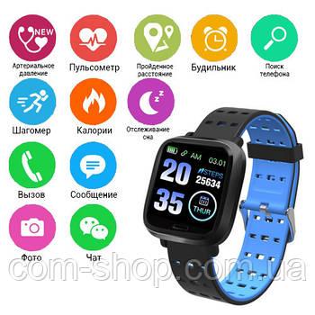 Bluetooth Фитнес-браслет A6, Умные Cмарт часы, пульсометр для бега, шагометр