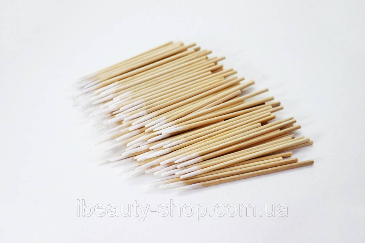 Ватные палочки деревянные ультратонкие