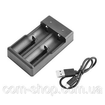 Зарядное устройство F2, двухканальное универсальное для аккумулятора, батарейки 2x14500/16340/18650/26650, USB