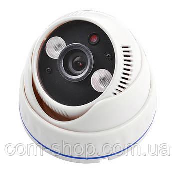 Камера видеонаблюдения ZX-611SD с записью на карту, купольная видеокамера для дачи, помещения, дома