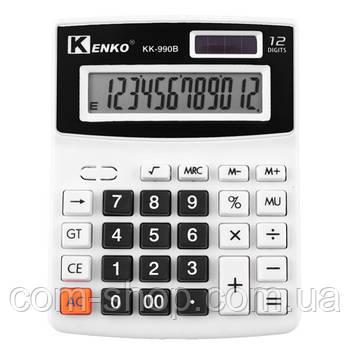 Калькулятор настольный, Kenko KK-990B-12, бухгалтерский средний компактный для офиса