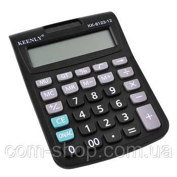 Калькулятор настольный, KEENLY KK-8123 - 12, бухгалтерский средний, финансовый