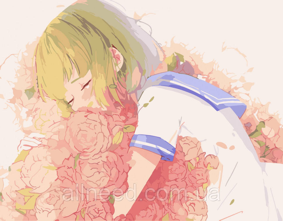 "Картина за номерами ""Квіткова любов"" 40*50 см 10214-AC"