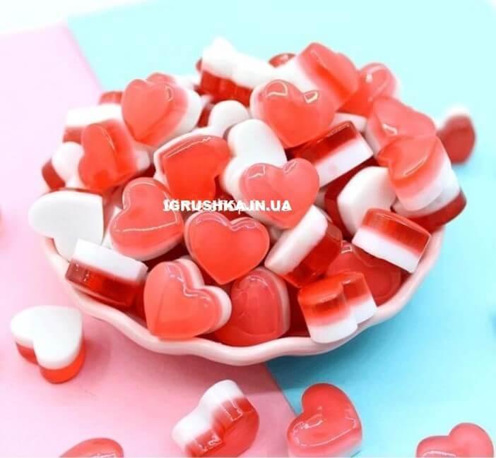 Шарм «Сердце Red and White» для слайма