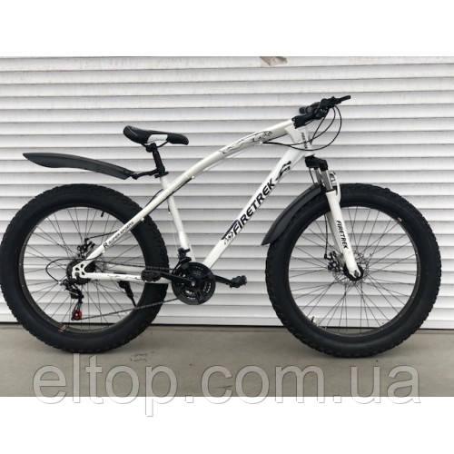 Велосипед ФЕТБАЙК Спорт 26 дюймов Горный спортивный велосипед FatBike 215 БЕЛЫЙ Внедорожник Fat Bike