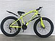 Велосипед ФЕТБАЙК Спорт 26 дюймов Горный спортивный велосипед FatBike 215 БЕЛЫЙ Внедорожник Fat Bike, фото 2