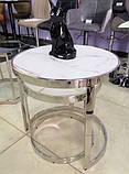 Комплект кофейных столиков CI-1 белый мрамор стекло Vetro Mebel, фото 2