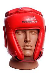 Боксерский шлем турнирный PowerPlay 3045 красный M