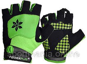 Велоперчатки женские PowerPlay 5284 B Зеленые XS