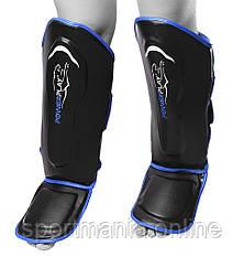 Защита голени и стопы PowerPlay 3052 черно-синяя S