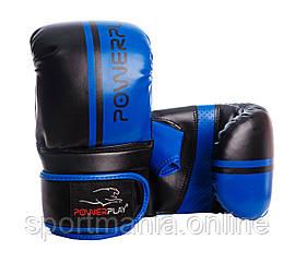 Снарядные перчатки, битки PowerPlay 3025 черно-синие L