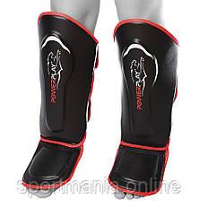 Защита голени и стопы PowerPlay 3052 черно-красная S