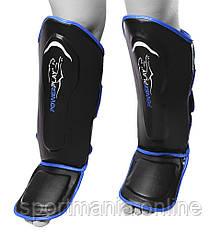 Захист гомілки і стопи PowerPlay 3052 Чорно-Синій XL