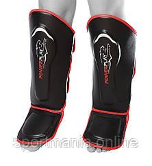 Защита голени и стопы PowerPlay 3052 черно-красная XL